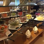 Breakfast buffet..lots of salad type things, Med spreads, fruits, yogurt, etc.