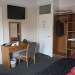 Room 2. A little bare, but comfortable beds and nice TV.