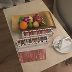 Gift and fruits from the hotel staff