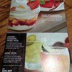 desserts & drinks on the spring specials menu