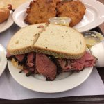 Pastrami sandwich filled with meat