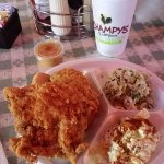 2 piece white meat fried chicken meal