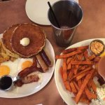 Nat's hearty breakfast and BC sunny start