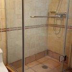 Shower area, shows old interior design