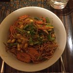 Thai Vegeterian Noodles with vegetables