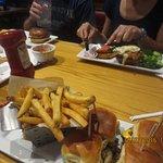 Chili's four mini burgers, delicious