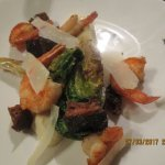 The Swan's caesar salad with prawns
