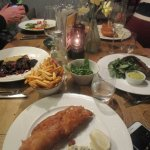 Our second meal at The Swan, delicious fish and chips