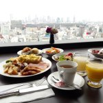 Breakfast with city view at Restaurant A Bientot