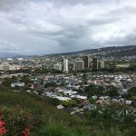 The view of Nu'uanu in the backside of Punchbowl.