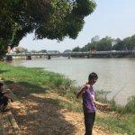 Thai boys fishing in the Ping