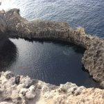 This is the dive entry to Blue Hole