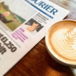 Coffee with papers and magazines available to read!