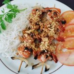 Brochette de crevette grillée