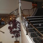 The stairways down to the restaurants and entertainment area looked like a cruise ship - very gl