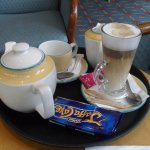 Afternoon tea and coffee served in the lounge