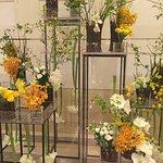 So many beautiful flower arrangements in the hotel lobby