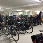 Free bike parking garage at Foodhallen.