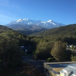 Morning view from our room (306) of Mt Ruapehu.