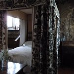 Jacobean embroidered bed hangings