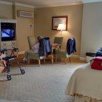 Shows spaciousness of room
