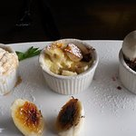 Dessert Trio, I couldn't wait for the picture.