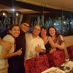Chef Jorge ans concierge Victoria after fabulous 9 course dinner at the chefs table