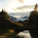 Meadow pond looking back at Salmon Glacier