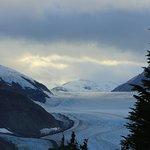 Salmon Glacier at sunset
