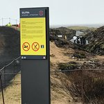 Warning sign - no swimming!