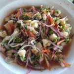 There was a bunch of seafood in this ceviche and it wasn't too spicy, with habaneros on the side