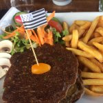 Burger breton avec blinis blé noir
