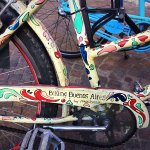 Loved the local artistry on some of their bikes!