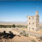 Stokes Castle overlooking the Reese River Valley in the middle of Nevada by Austin.