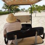 Beach golf cart rides were fun!