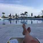 My view every day at the Luxury pool. Bring towel clips to mark your chairs by 7:30 or 8AM
