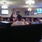 Total Sports Bar setting with lots of TVs! VERY popular place!!