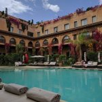 Central courtyard pool