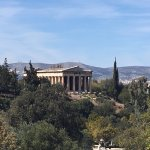 temple of Hephaestus from far end of the ancient angora