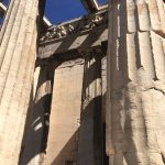 close up of temple of Hephaestus