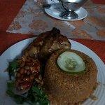 Jollof rice and chicken