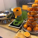 A good way to start your day - make fresh orange juice for yourself!