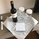 Wonderful gesture from the hotel staff on my wife's birthday.
