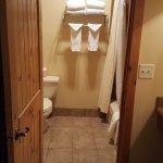 Into restroom area