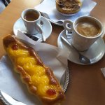 Pastry and coffee