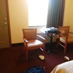 Very clean when came into the room and we had a room facing the island awesomesorry in some phot