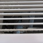 Air conditioner with dust