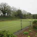 Tennis court is a 1 minute walk from Keepers Lodge