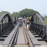 The famous bridge on River Kwai, 300 meters ffrom the hotel