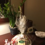 Anniversary gift basket from Harraseeket Inn